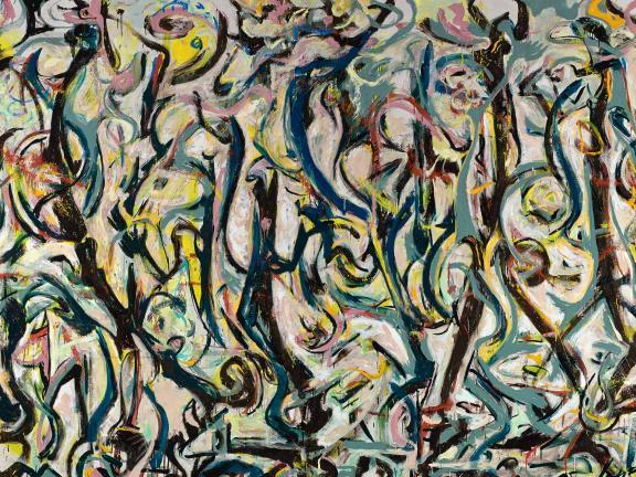 Detail of Jackson Pollock's 1943 mural