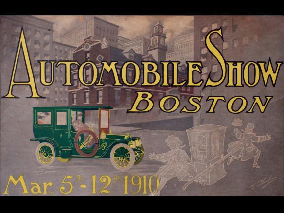 Designed by: F. C. Sanborn, Automobile Show Boston Mar 5th-12th 1910
