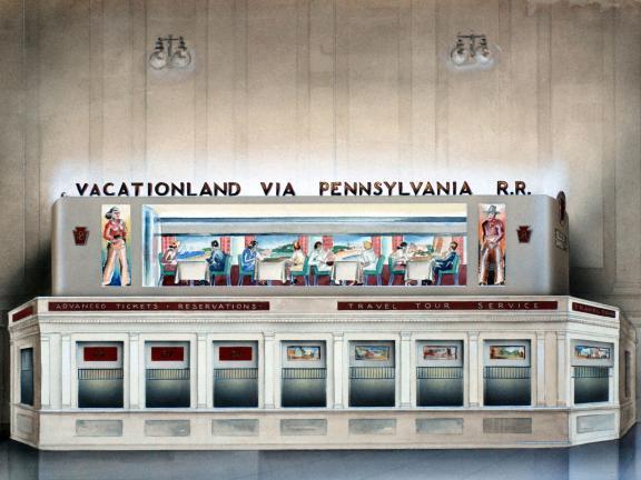 Raymond Loewy, Vacationland via Pennsylvania R.R.