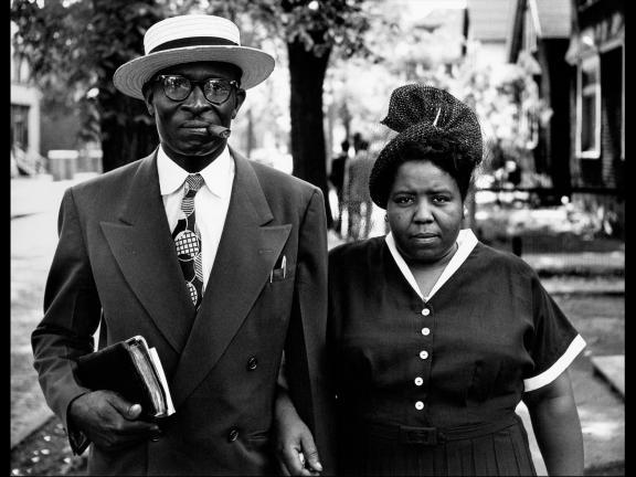 Gordon Parks, Husband and Wife, Sunday Morning, Detroit, Michigan, 1950