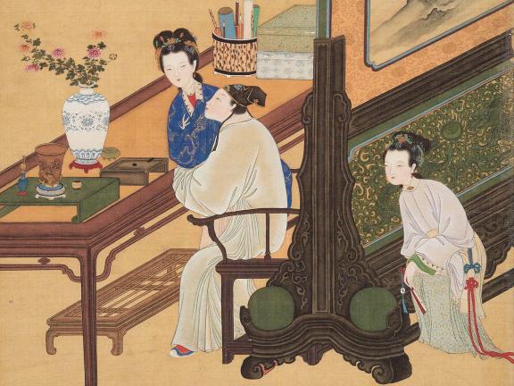 Configure Yin Qi, Album of erotic paintings, second half of the 19th century