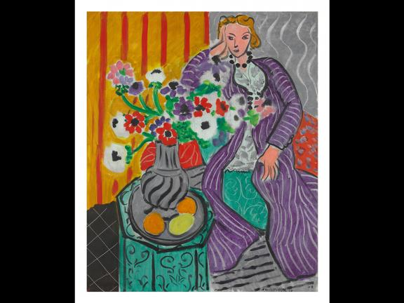Henri Matisse's painting, Purple Robe and Anemones, 1937