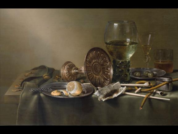 Willem Claesz. Heda's painting, Still Life with Glasses and Tobacco