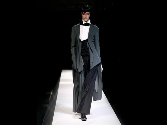 Woman's ensemble, designed by Yohji Yamamoto