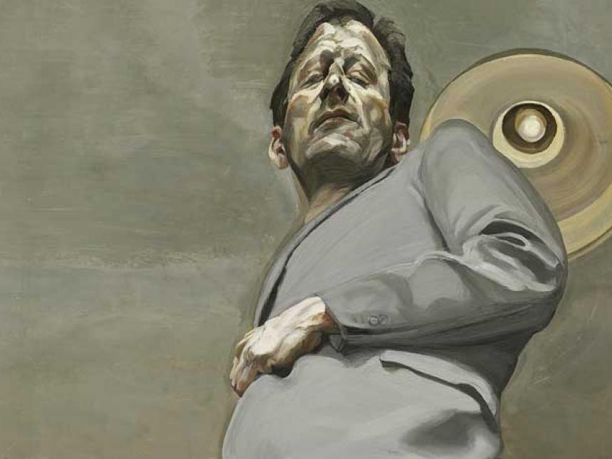 detail of Lucian Freud self-portrait
