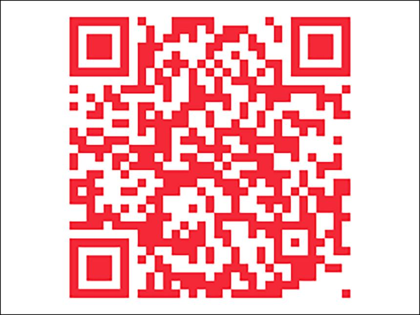 QR code linking to MFA mobile tour web app
