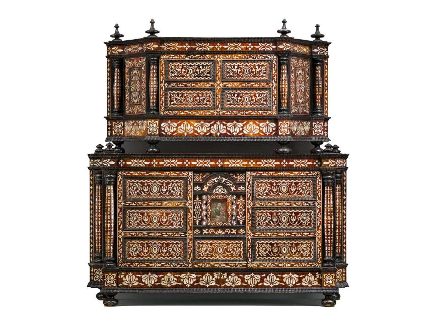 17th century Peruvian cabinet, intricately decorated