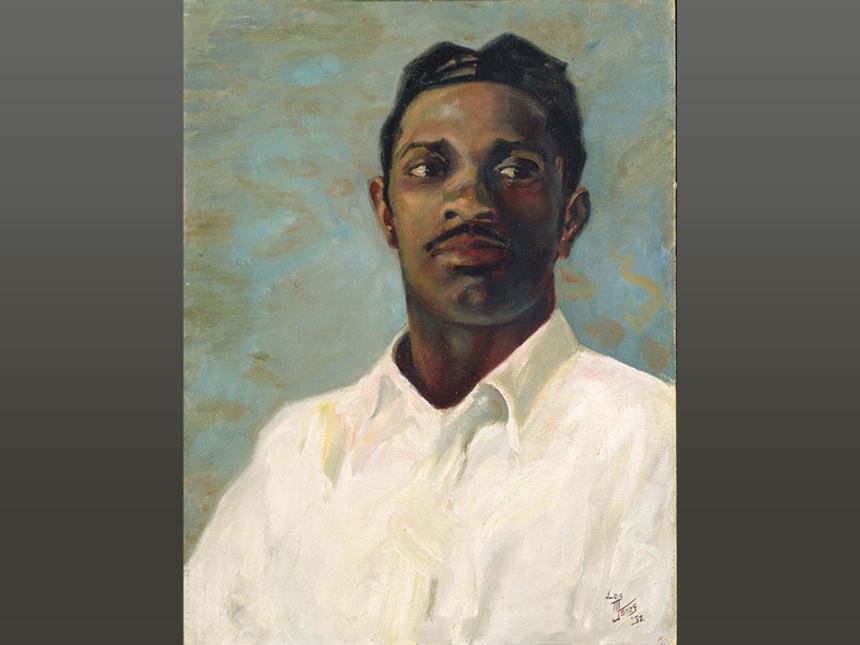 portrait of man named Hudson, by Loïs Mailou Jones