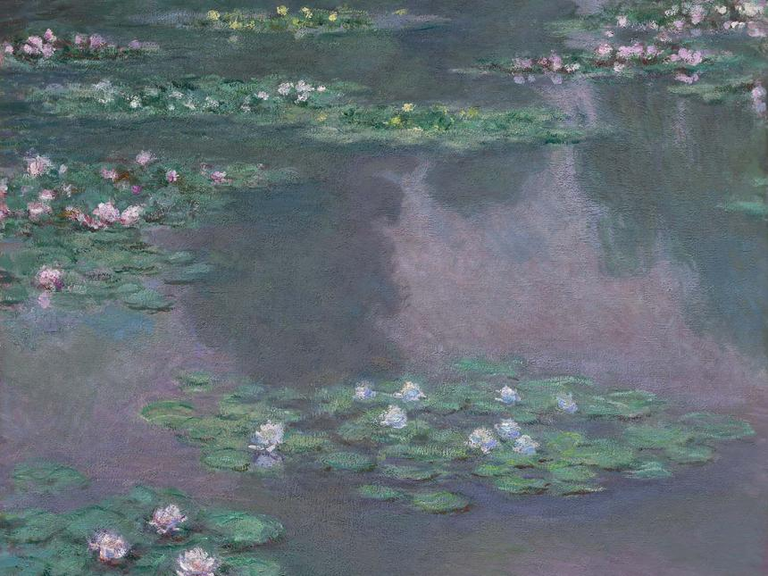 Detail of Water Lillies painting by Claude Monet