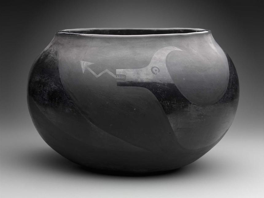 bowl by Maria Montoya Martinez (Poveka or Water Pond Lily) and Julian Martinez