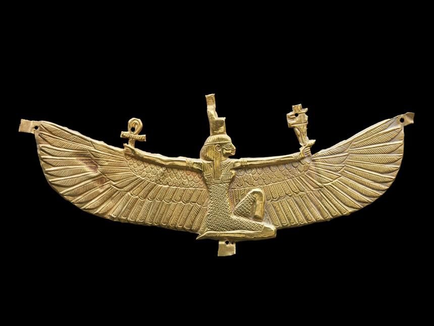 Nubian pectoral depicting winged Isis