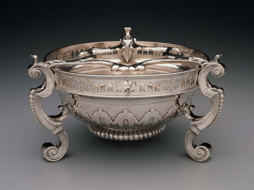 Chafing dish, marked by Anthony Nelme