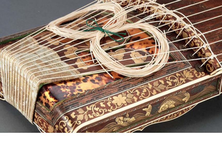 Detail of Japanese zither (koto)