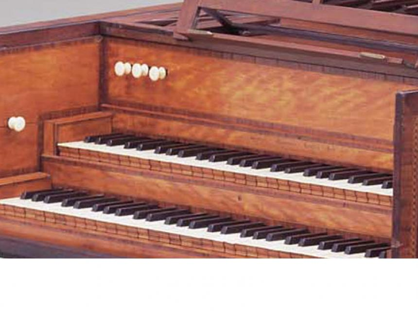 Detail of harpsichord by Joseph Kirckman
