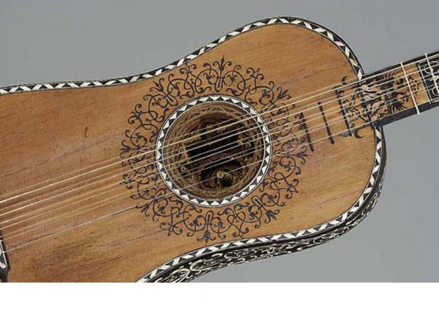 Detail of guitar by Jacopo Checchucci