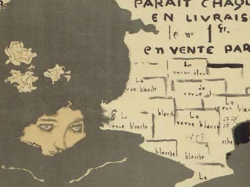Detail of poster for La Revue Blanche