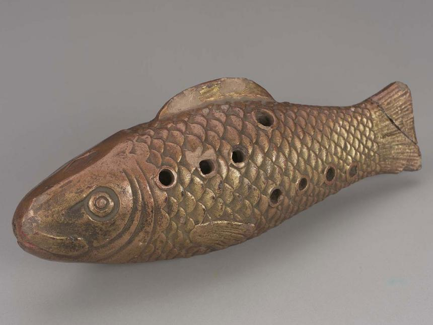 Soprano ocarina in the shape of a fish