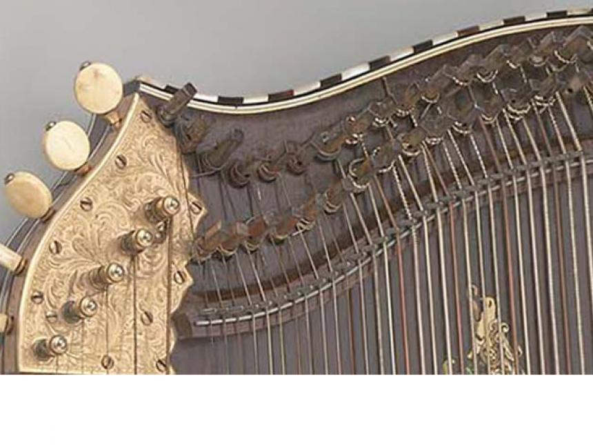 Detail of 1893 concert zither