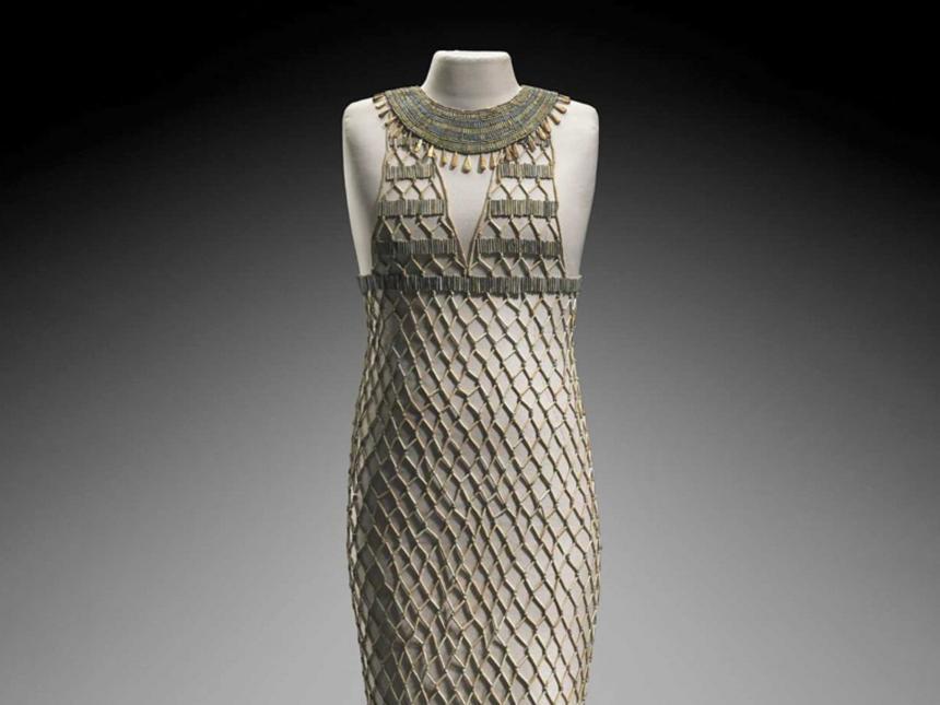 Egyptian beadnet dress