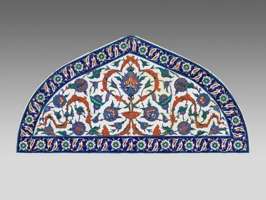 Islamic tile lunette