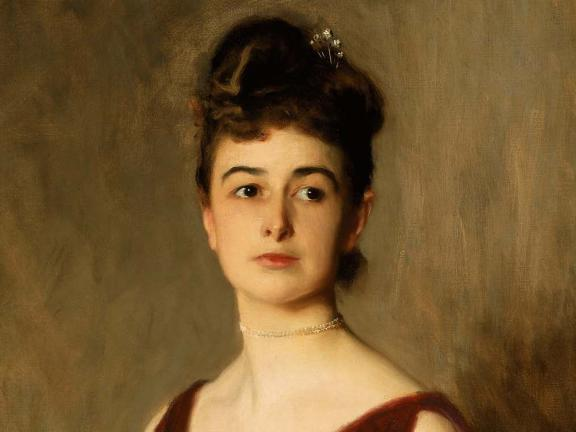 Detail of portrait of Louise Pomeroy by John Singer Sargent