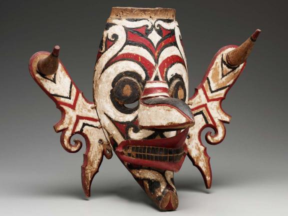 Mask (Hudoq), made by Dayak peoples in Borneo, Indonesia