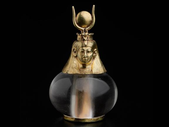 Nubian Hathor-headed crystal pendant from 743-712 BC