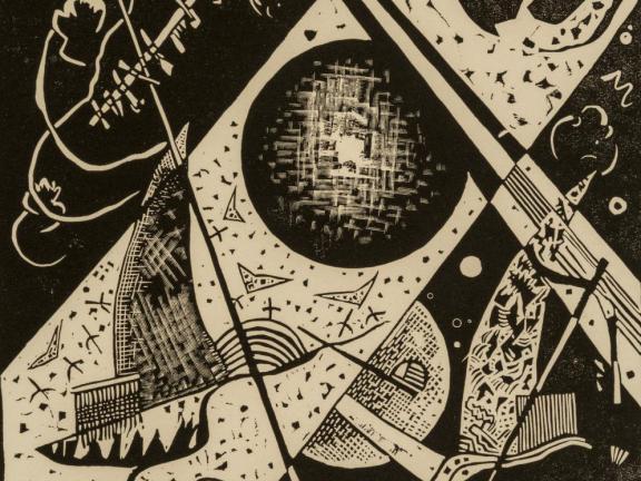 Detail of Wassily Kandinsky's print, Kleine Welten VI
