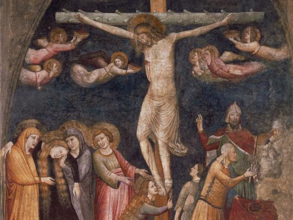 Master of the Urbino Coronation, The Crucifixion (detail), 1360s