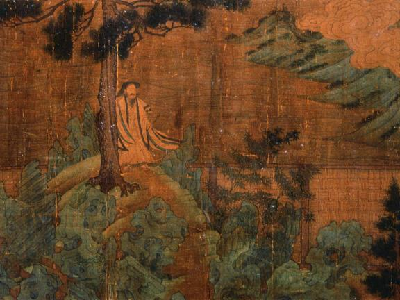 """Detail of Unidentified artist's handscroll, Illustrations to Tao Qian's prose poem """"Homecoming"""""""
