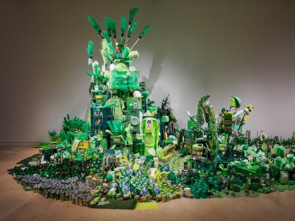 View of Han Seok Hyun's installation of Super-Natural in Megacities Asia exhibition